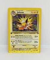 First Edition Jolteon Holo Rare Pokemon Card Jungle Set Collection 4/64 1st Ed