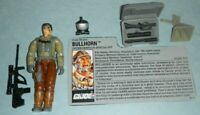 1990 GI Joe Intervention Specialist Bullhorn v1 Figure w/ File Card *Complete