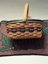 """Decorative Wicker Basket With Handle And Place Mat - 11"""" H x 10"""" W x 5.5"""" D ."""
