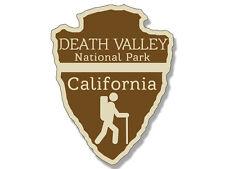4' arrowhead shaped death valley national park rv bumper sticker decal