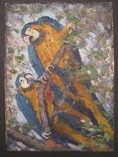 ANTIQUE AMERICAN IMPRESSIONIST PARROT FINE ART LADY PARIS CHICAGO ARTIST VOGNILD
