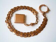 Antike Uhrenkette Uhr Kette Taschenuhrkette mit Anhänger/Foto Medaillon 18,6 g