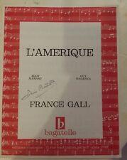 PARTITION *FRANCE GALL*L'AMERIQUE