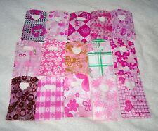JOB LOT 50 rosa piccola in plastica sacchetti regalo gioielli PARTY 15x9cm