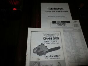 Owners Manual for Mighty Mite Remington Chain Saw 1977,Parts List,Service Locat.