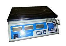BILANCIA ELETTRONICA PROFESSIONALE DA BANCO DIGITALE 40 KG DOPPIO DISPLAY mshop