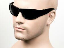 Super Dark Cholo Wrap Sunglasses Retro OG Gangster LOC Black 19SD