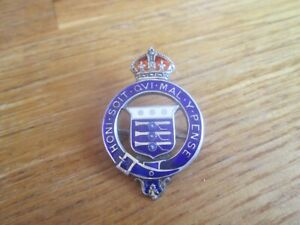 GENUINE VINTAGE WW2 SOLID SILVER MILITARY ROYAL ORDNANCE CORPS SWEETHEART BROOCH