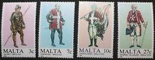 MALTESE uniformi, (1st serie) FRANCOBOLLI 1987 Malta, SG RIF: 802-805, 4 francobolli, Gomma integra, non linguellato
