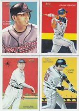 2010 Topps Chicle Baseball Cleveland Indians Team Set W/Sp's
