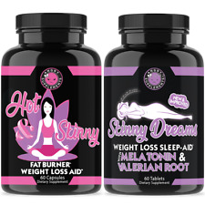 Weight Loss for Women, Hot & Skinny Diet Pills + Skinny Dreams Sleep Aid, 2-Pack
