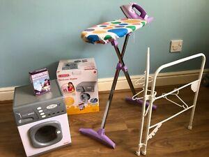 Children's Play Casdon Washing Machine, plus play iron and ironing board