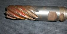 """2"""" INCH 10.712"""" M12  8 Spiral Roughing End Mill 45 ANGLE X .060"""