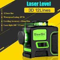 3D 12 Lines Green Beam Laser Level Tool Measure Measuring 30M For Construction