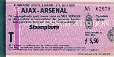 Ticket : Ajax v Arsenal 8/3/1972 European Cup Quarter - Final