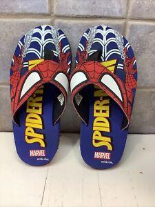 Spiderman Flip-Flops  Marvel Stride Rite Red/White/Blue Toddler  Boys Size 12-