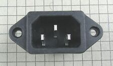 Black 3 Pins IEC320 C14 Inlet Power Plug Socket AC 250V 10A : Lot of 2pcs