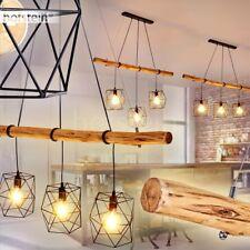 edle Pendel Leuchten Holz Wohn Schlaf Ess Zimmer Raum Beleuchtung Hänge Lampen