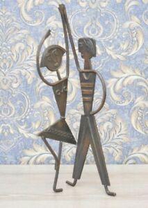 Vintage 1950s Man Woman bronze statue figurine, Home decor Birthday Unisex Gift