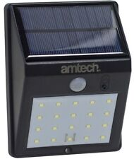 20 SMD LED Solar PIR Sensor Light Lamp Garden External Use No Wiring Req- Amtech