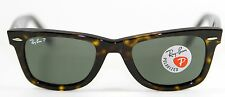 New Genuine Ray Ban 2140 902/58 Tortoise Polarized Wayfarer Sunglasses 50mm