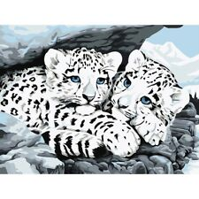 White Tiger Resin Diamond Painting Cross Stitch Kit Mosaic Embroidery Craft 5D