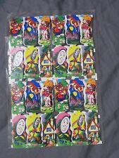 Vintage Mother Goose 48 Stickers 1950's England 2 Sheet Lot Nursery Rhyme Gummed