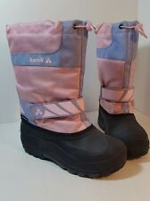 Kamik Girls Snowday Snow Winter Boots Waterproof Light Pink Insulated Size 4