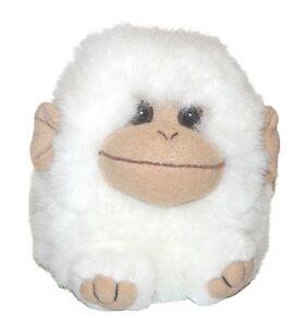 Puffkins Swibco White Tan Monkey Chimp Plush Lovey Stuffed Animal 4 inch RARE