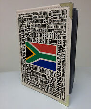"""Personalised 7x5"""" x 36 album photo, livre de souvenirs, South Africa vacances lune de miel"""