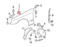 Mercedes-benz CLS C219 Anteriore Sinistro Fender A2198800718 Nuovo Originale
