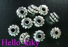 150 Pcs Tibetan silver tiny drum spacer beads A694