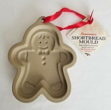 Clay Cookie Mold Stoneware Lakeland Shortbread Gingerbread Man   A2
