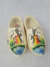Vintage Holland Dutch Hand Painted Wooden Shoes