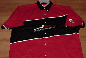 Dale Earnhardt Jr. Pit Crew Shirt 3XL Nascar Full Button Up Embroidered Logos