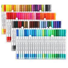 100 Dual Pencil Set Marker Album Dauber Sketch Water Color Marker Brush Pen