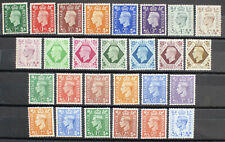 GB Complete Collection of KING GEORGE VI Definitives Unmounted Mint 27 Stamps