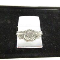 1998 Zippo Lighter HARLEY-DAVIDSON 95th ANNIVERSARY Bar & Shield