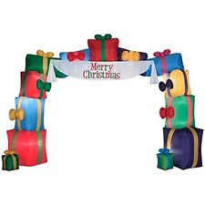CHRISTMAS INFLATABLE GIANT 16' X 12' MERRY CHRISTMAS PRESENT ARCHWAY BY GEMMY