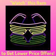 LUXE Light Up Shutter Glasses LED Neon Flashing 80s Party EDM Rave Festival NEW