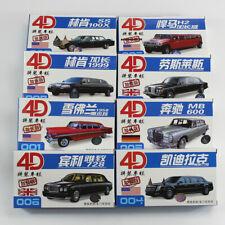 8pcs/set Stretch Limousines 1/87 4D New Car Model Kit Chevrolet Hummer Varieties