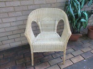 CLASSIC VINTAGE STYLE, IKEA, BENT CANE AND WICKER ARM CHAIR. TOP CONDITION