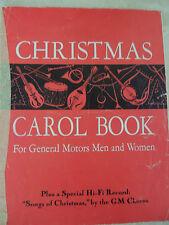 Christmas Carol book for General Motors Chormen and women GM Employee Giveaway