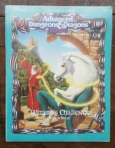 Wizard's Challenge AD&D 2nd Edition Solo Adventure TSR 9359 HHQ2 Shrink
