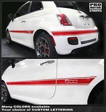 Fiat 500 Side & Rear Mid-Body Stripes 2007 2008 2009 2010 2011 2012 2013 2014