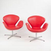 2012 Arne Jacobsen Fritz Hansen Denmark Swan Chairs Leather Upholstery Knoll 4x