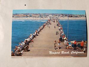 Vintage Postcard - Newport Beach Fishing Pier 1960s -  Golden West