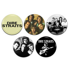 5x Dire Straits Band Rock 25mm / 1 Inch D Pin Button Badges