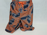 Nike Mens Swim trunks swimming suit shorts NWT Big Tall Blue Orange Mesh Brief