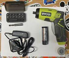 RYOBI 4v Electric Powered Screwdriver with Screw heads Set